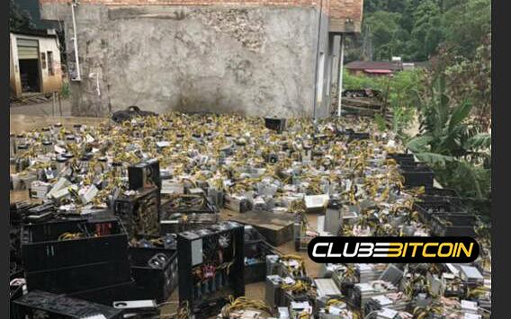 Inundação em Sichuan arrasa várias mineradoras e hash rate do Bitcoin cai imediatamente apósdesastre.